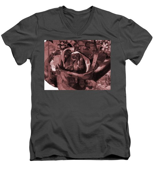 Rose No 2 Men's V-Neck T-Shirt