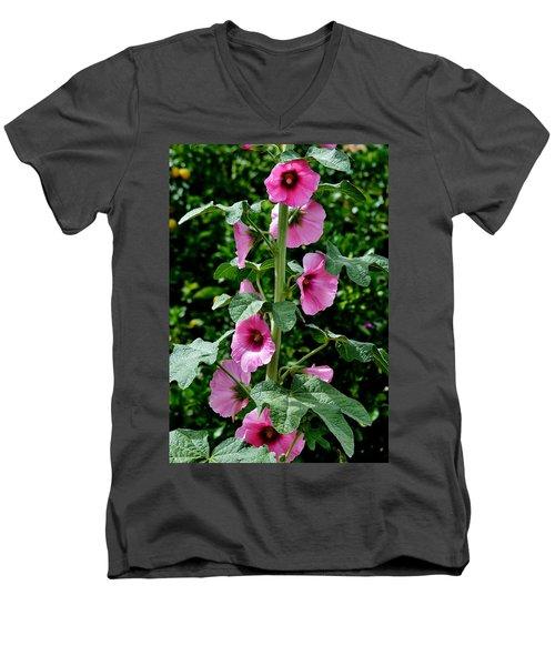 Rose Of Sharon Vine Men's V-Neck T-Shirt