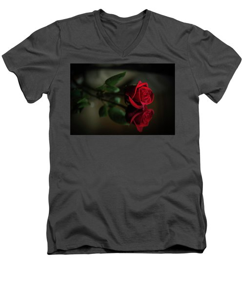 Rose Reflected Men's V-Neck T-Shirt