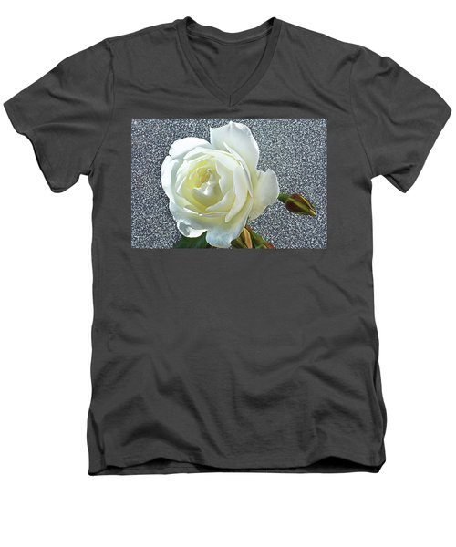 Men's V-Neck T-Shirt featuring the photograph Rose With Some Sparkle by Terence Davis