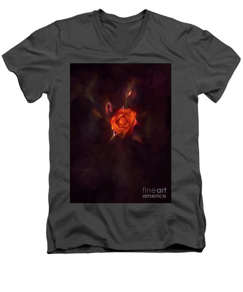 Rosebud Men's V-Neck T-Shirt