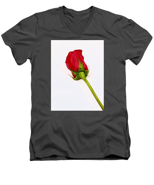 Rosebud Men's V-Neck T-Shirt by Russell Keating