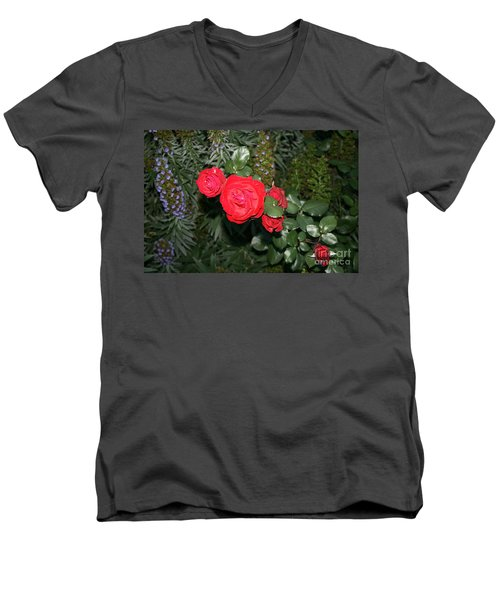 Roses Among Men's V-Neck T-Shirt