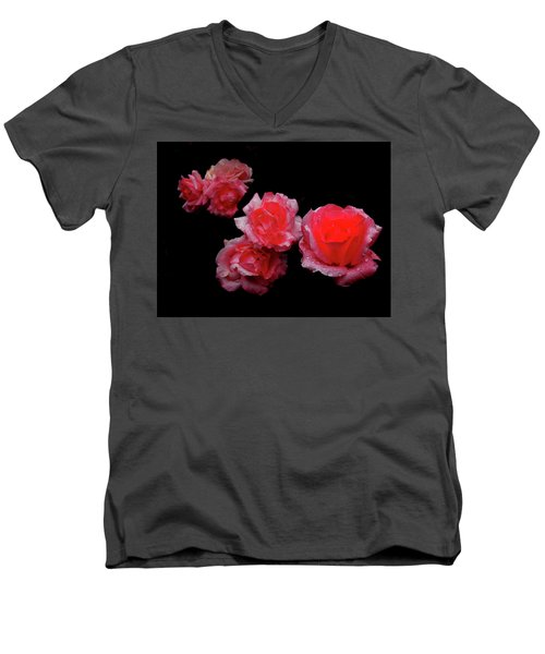 Roses And Rain Men's V-Neck T-Shirt