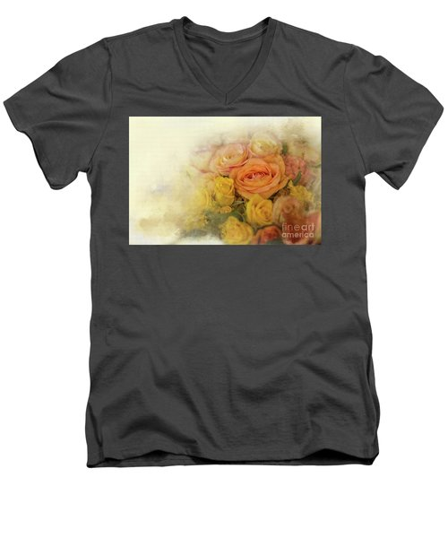 Roses For Mother's Day Men's V-Neck T-Shirt by Eva Lechner