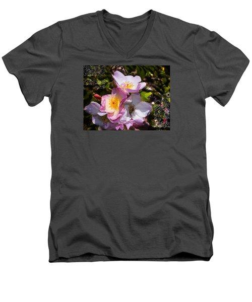 Roses Speak Of Love In The Language Of The Heart Men's V-Neck T-Shirt