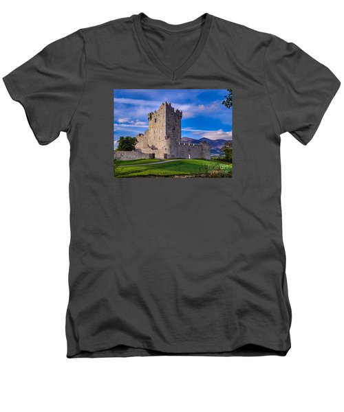 Ross Castle Men's V-Neck T-Shirt by Juergen Klust