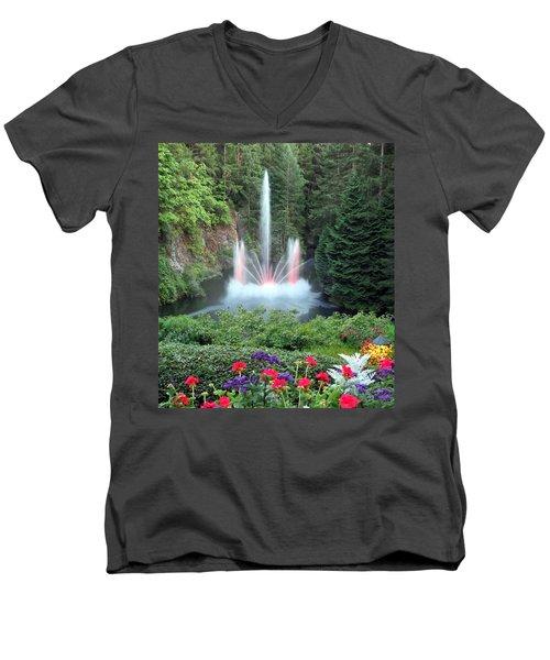 Ross Fountain Men's V-Neck T-Shirt by Betty Buller Whitehead