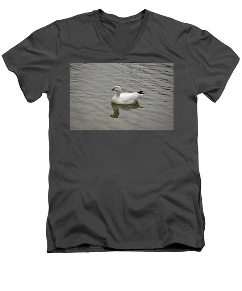 Men's V-Neck T-Shirt featuring the photograph Ross's Goose by Sandy Keeton