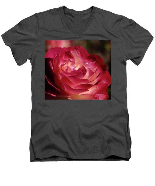 Rosy Closeup Men's V-Neck T-Shirt