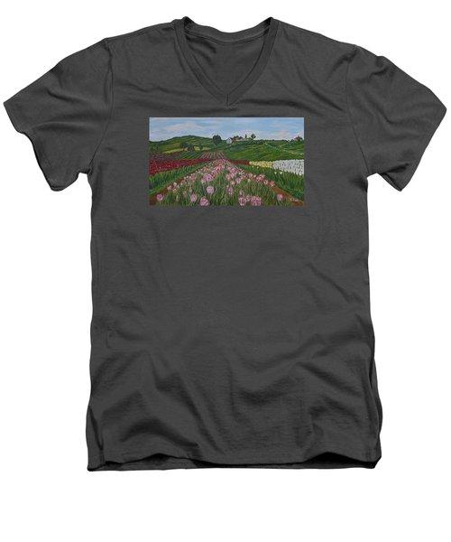 Walking In Paradise Men's V-Neck T-Shirt by Felicia Tica