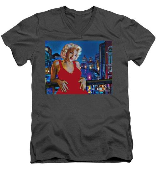 Rot In Venedig / Red In Venice Men's V-Neck T-Shirt