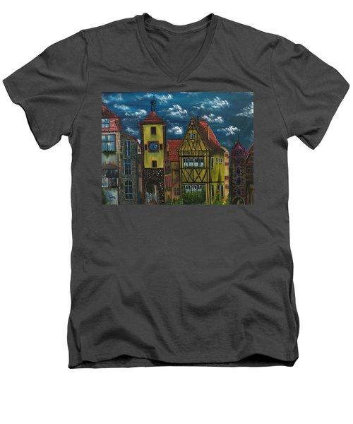 Rothenburg Ob Der Tauber Men's V-Neck T-Shirt
