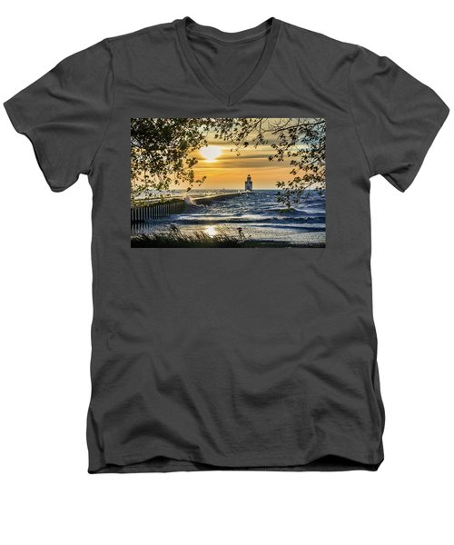 Men's V-Neck T-Shirt featuring the photograph Rough Opening by Bill Pevlor