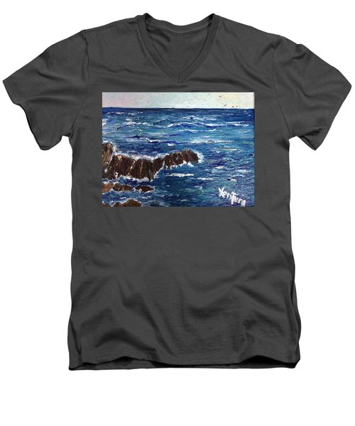 Rough Seas Men's V-Neck T-Shirt