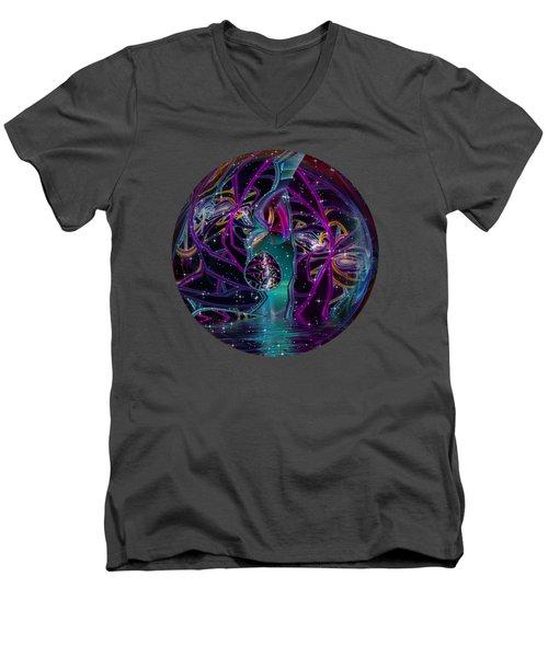 Round 25... Neon Men's V-Neck T-Shirt