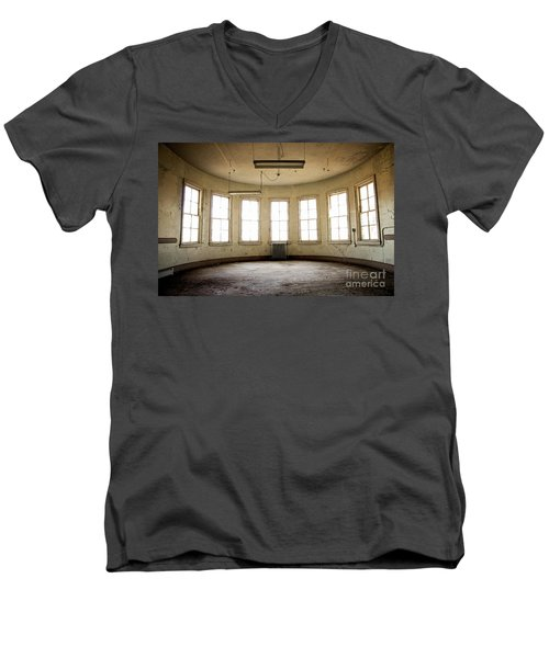 Men's V-Neck T-Shirt featuring the photograph Round Room by Randall Cogle