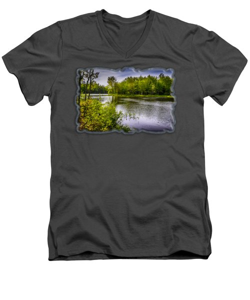 Round The Bend In Oil 36 Men's V-Neck T-Shirt