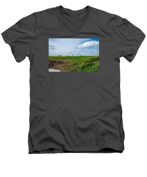 Round Tower Portrane Men's V-Neck T-Shirt