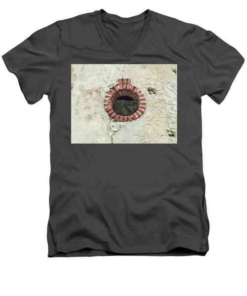 Round Window Men's V-Neck T-Shirt by Helen Northcott