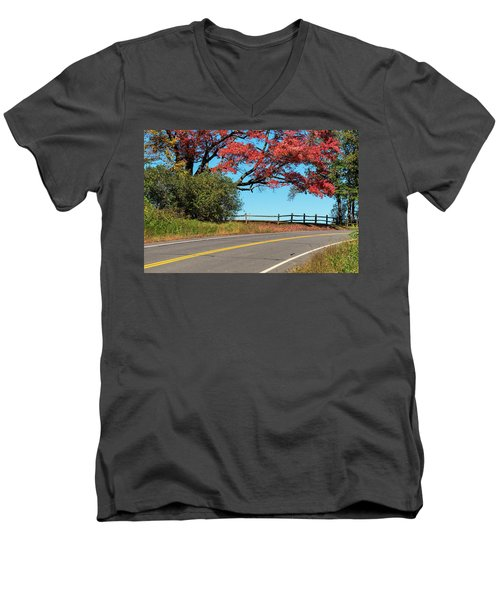 Route 5 Color Men's V-Neck T-Shirt