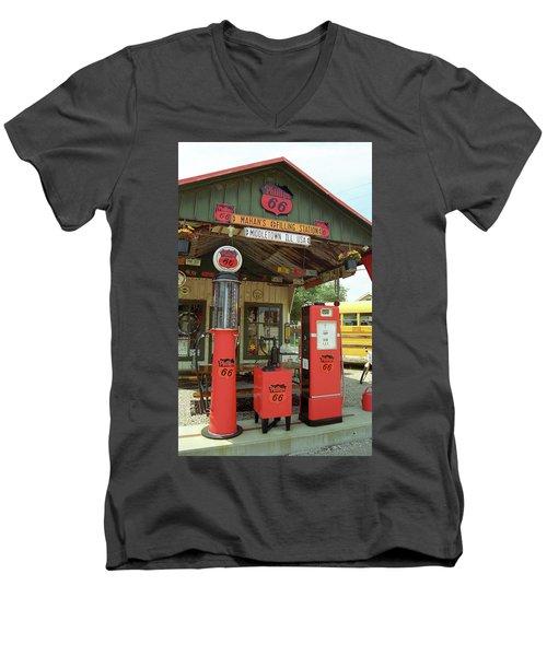 Route 66 - Shea's Gas Station Men's V-Neck T-Shirt