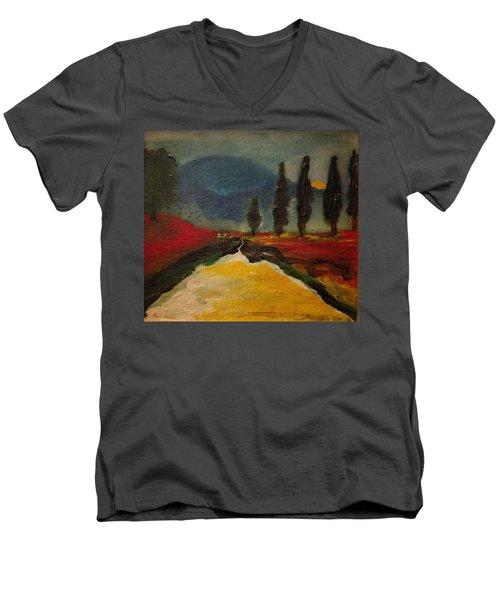 Row Of Cypress Men's V-Neck T-Shirt