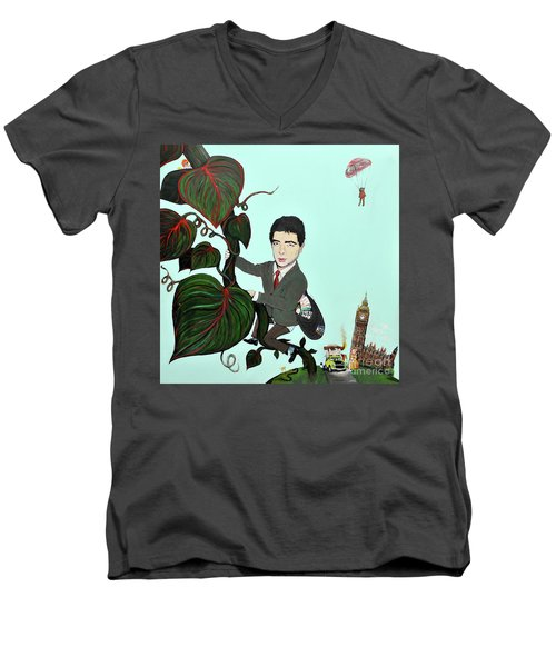 Rowan Atkinson Mr Beanstalk Men's V-Neck T-Shirt