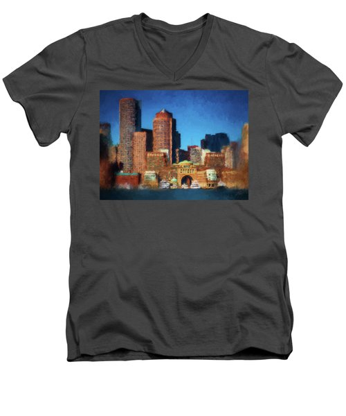 Rowes Wharf Boston Men's V-Neck T-Shirt
