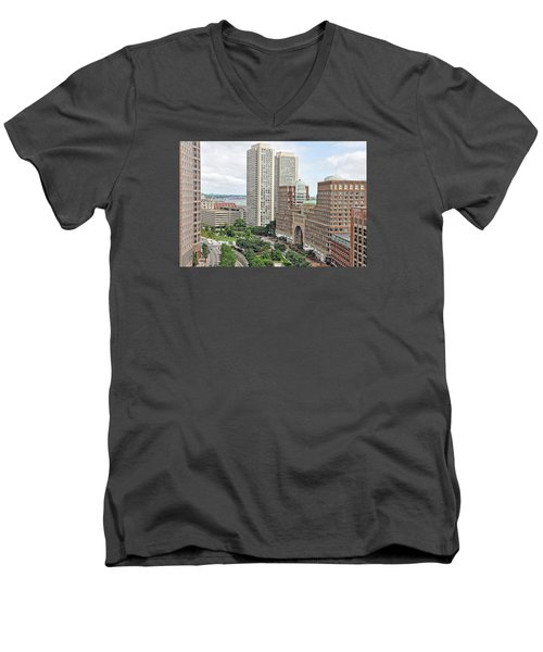 Rowes Wharf Men's V-Neck T-Shirt by Joanne Brown