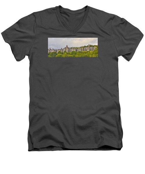 Men's V-Neck T-Shirt featuring the photograph Rows by Wanda Krack