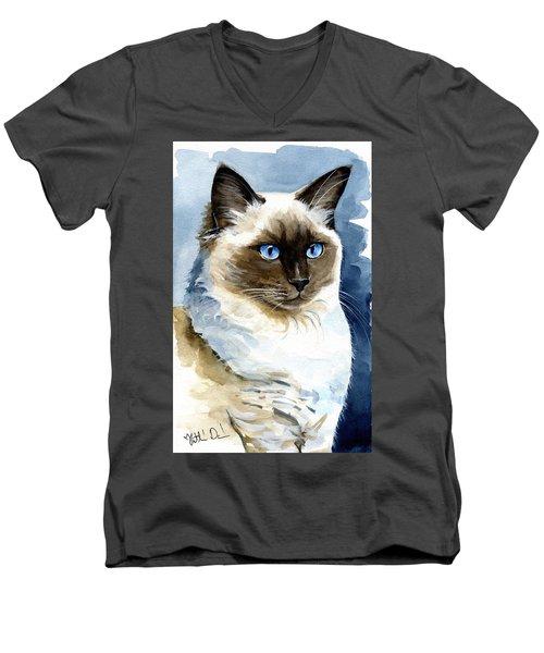 Roxy - Ragdoll Cat Portrait Men's V-Neck T-Shirt