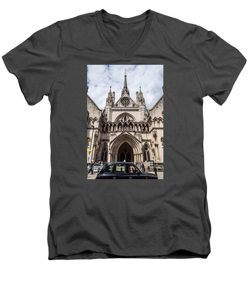 Royal Courts Of Justice In London Men's V-Neck T-Shirt