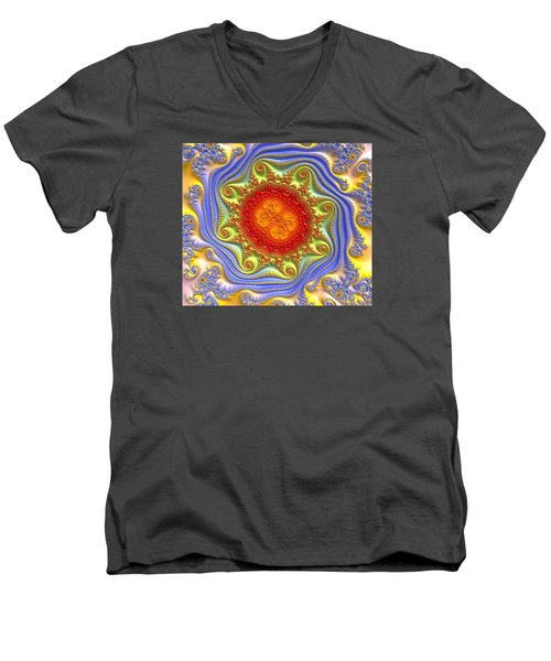 Royal Crown Jewels Men's V-Neck T-Shirt by Kevin Caudill