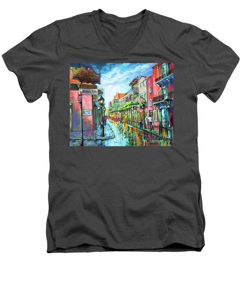 Royal Lights Men's V-Neck T-Shirt
