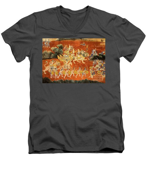 Royal Palace Ramayana 02 Men's V-Neck T-Shirt