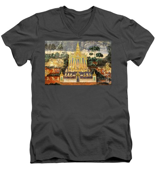 Royal Palace Ramayana 04 Men's V-Neck T-Shirt