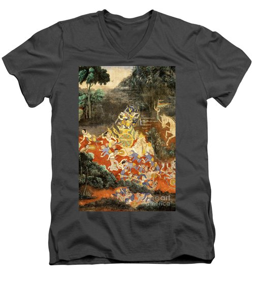 Royal Palace Ramayana 05 Men's V-Neck T-Shirt