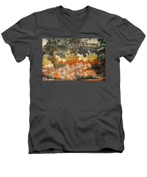 Royal Palace Ramayana 06 Men's V-Neck T-Shirt