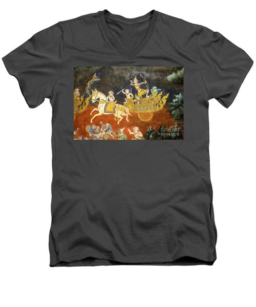 Royal Palace Ramayana 07 Men's V-Neck T-Shirt