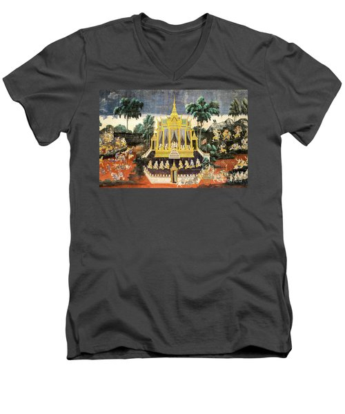 Royal Palace Ramayana 10 Men's V-Neck T-Shirt