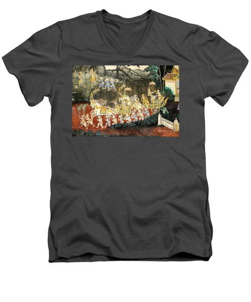 Royal Palace Ramayana 11 Men's V-Neck T-Shirt