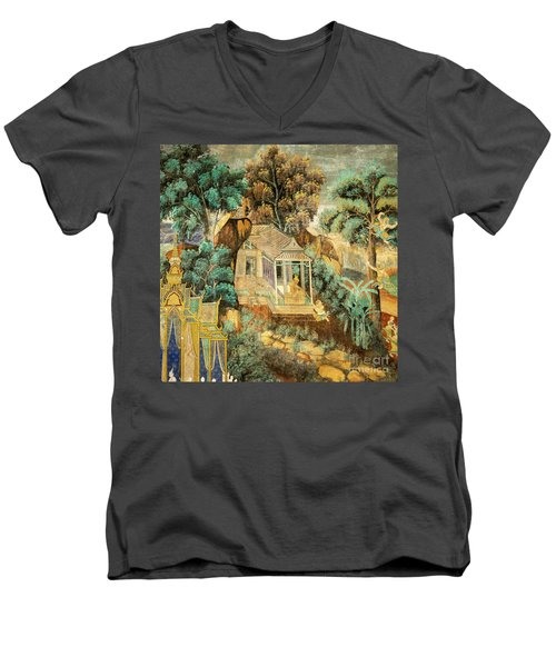 Royal Palace Ramayana 12 Men's V-Neck T-Shirt
