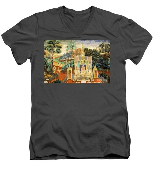 Royal Palace Ramayana 13 Men's V-Neck T-Shirt