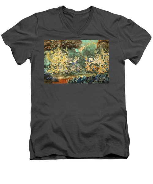 Royal Palace Ramayana 14 Men's V-Neck T-Shirt