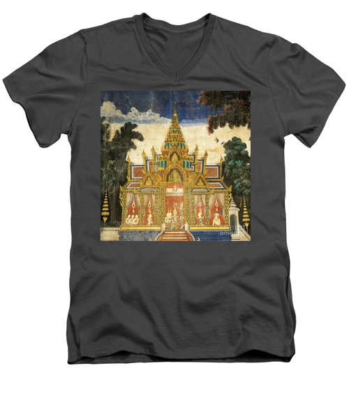 Royal Palace Ramayana 17 Men's V-Neck T-Shirt