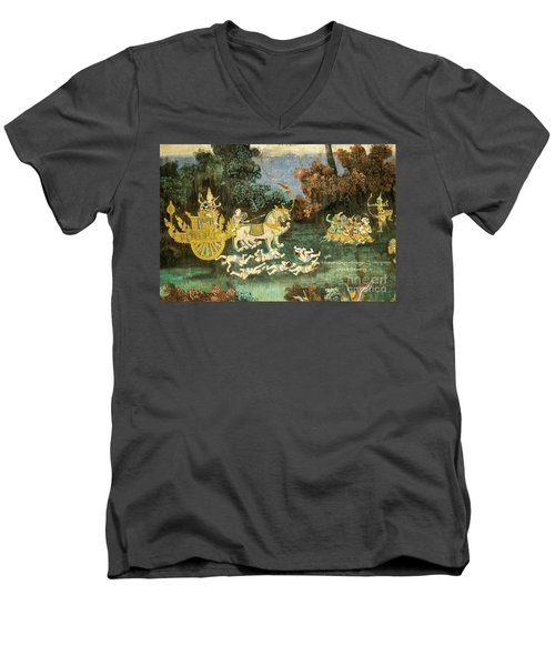 Royal Palace Ramayana 19 Men's V-Neck T-Shirt