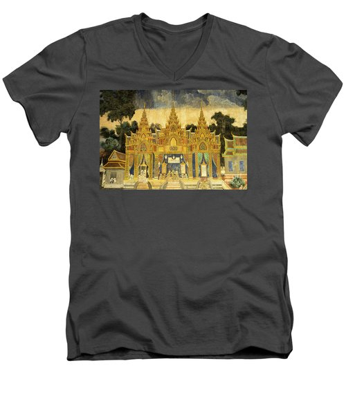 Royal Palace Ramayana 20 Men's V-Neck T-Shirt