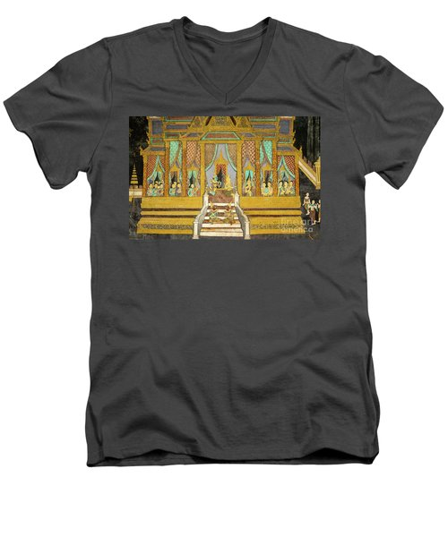 Royal Palace Ramayana 21 Men's V-Neck T-Shirt