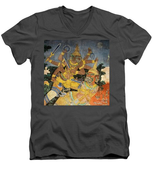 Royal Palace Ramayana 22 Men's V-Neck T-Shirt